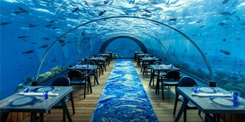 モルディブ 水中レストラン フラワリ