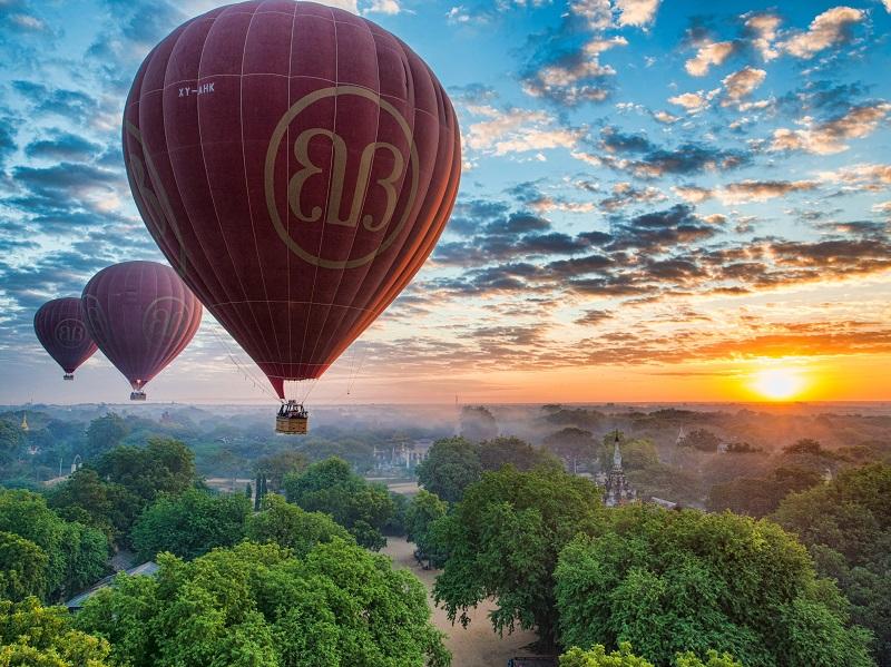 【体験しました】世界遺産バガンを気球から見る!ルートや値段も解説